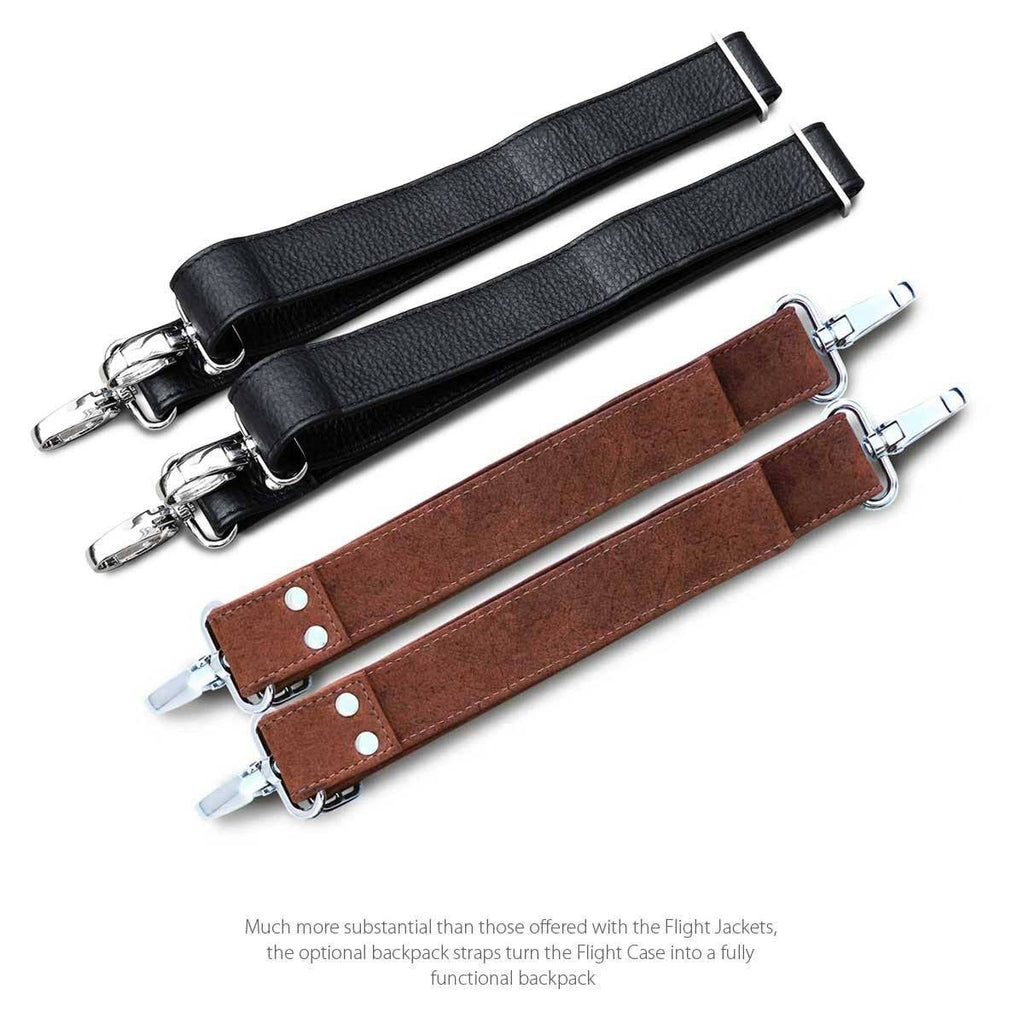 The Optional Backpack Straps Sets for the MacCase Premium Leather Flight Case Leather Briefcase
