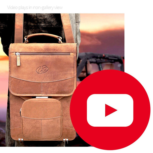 Premium Leather Briefcase Backpack 1