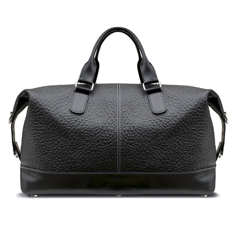 Swatch-Black MacCase Premium Leather Overnight Bag