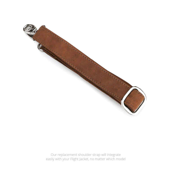 Swatch-Vintage Replacement shoulder strap for the MacCase Premium Leather Flight Jacket shown in Vintage