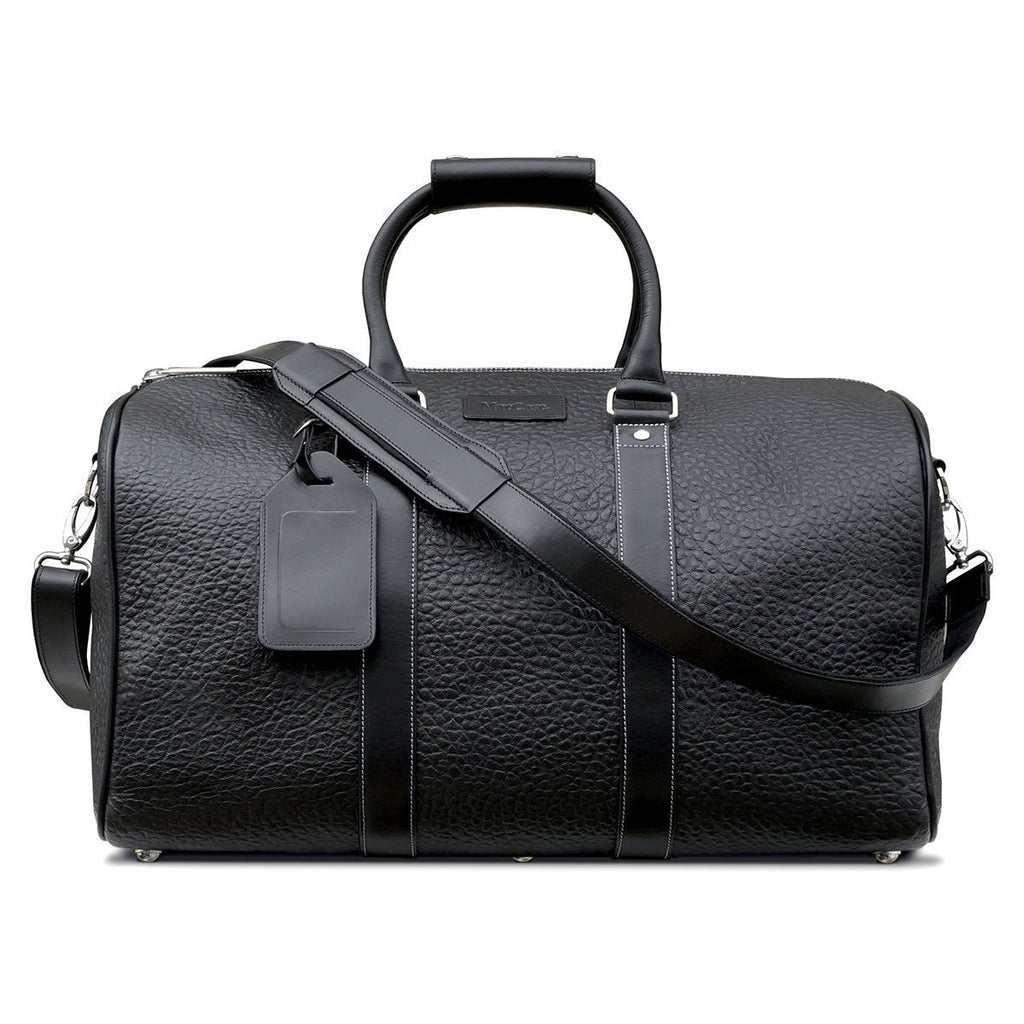 Swatch-Black MacCase Premium Leather Duffle Bag