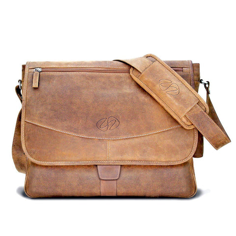 Swatch-Vintage Front View of the MacCase Premium Leather Messenger Bag
