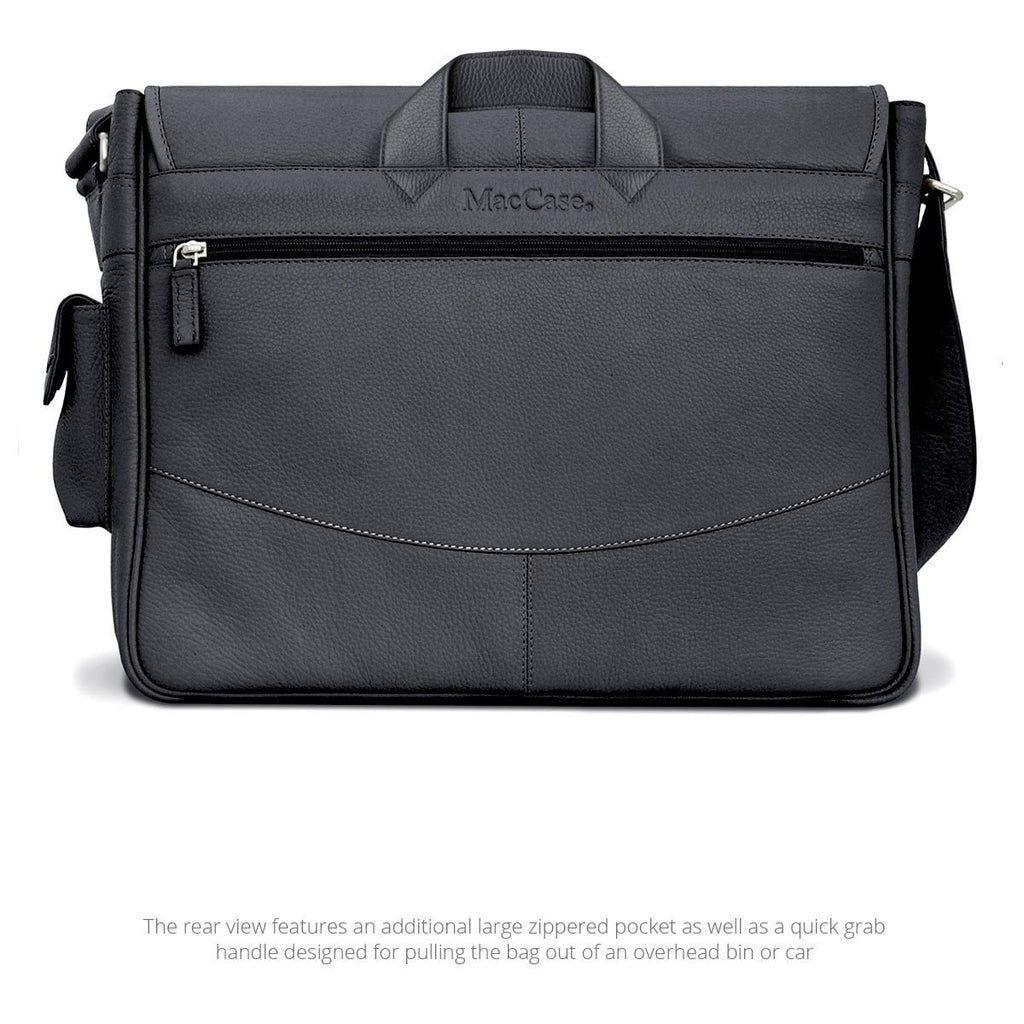 Rear View of the MacCase Leather Shoulder Bag