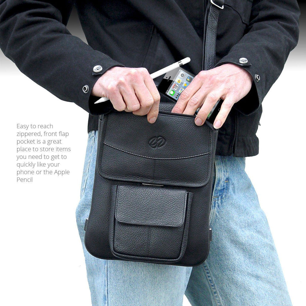 Store you Apple Pencil in the Leather iPad Pro 10.5 case - Flight Jacket