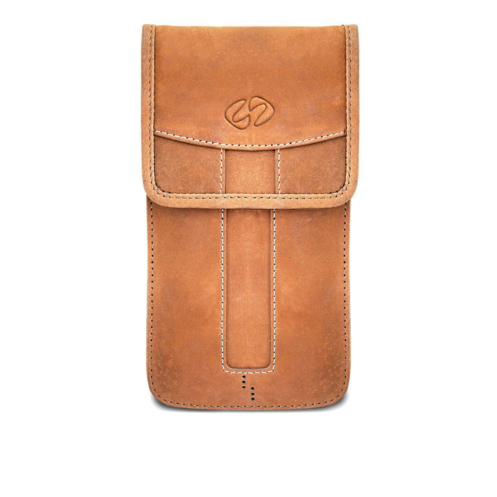 Swatch-Vintage Front view of leather iPhone slipcase