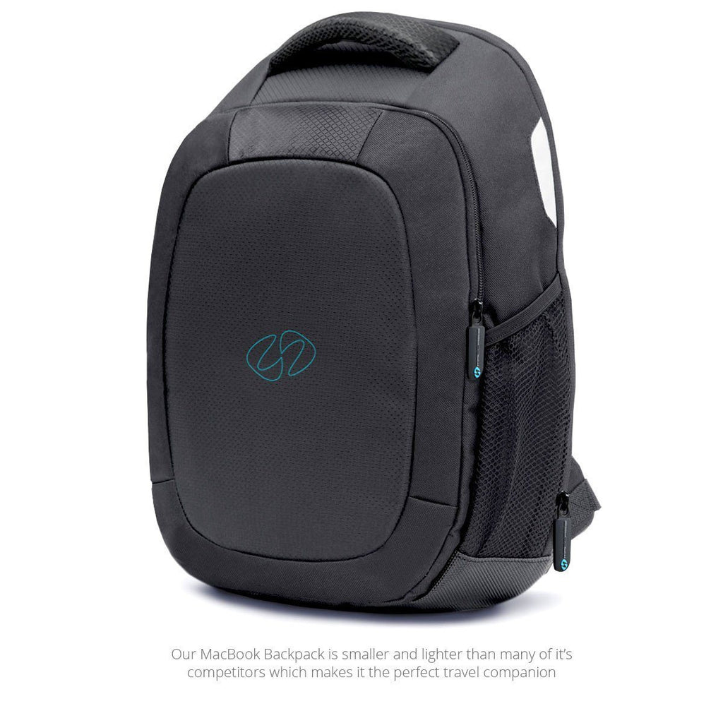 Front quater view of MacCase backpack for all 13 MacBook models