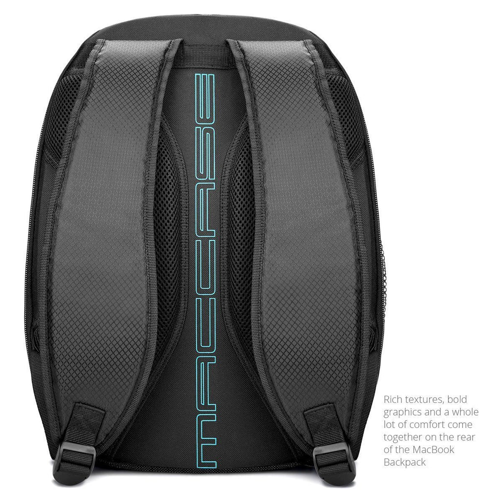 "The rear view of the MacCase backpack designed for the 12"" macbook"
