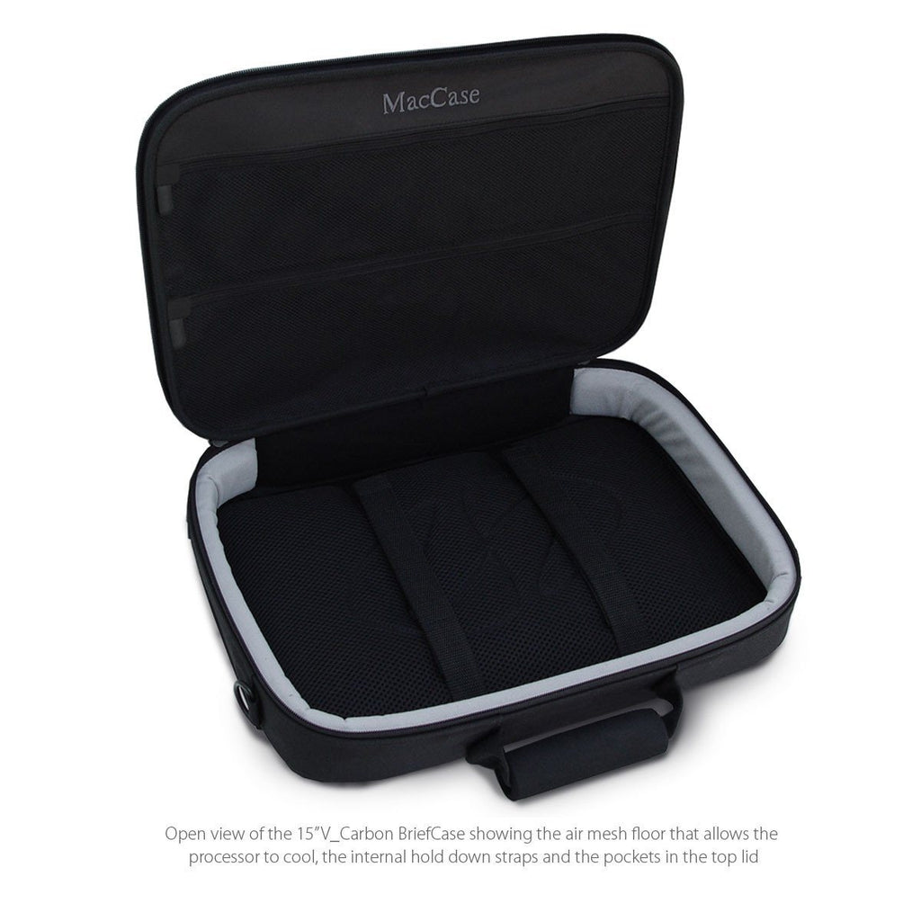 Open View of the MacCase V Carbon MacBook Pro BriefCase