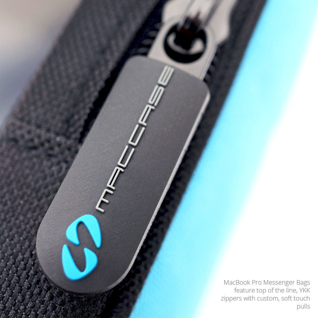 The top of the line YKK zippers of the MacCase MacBook Pro Bag