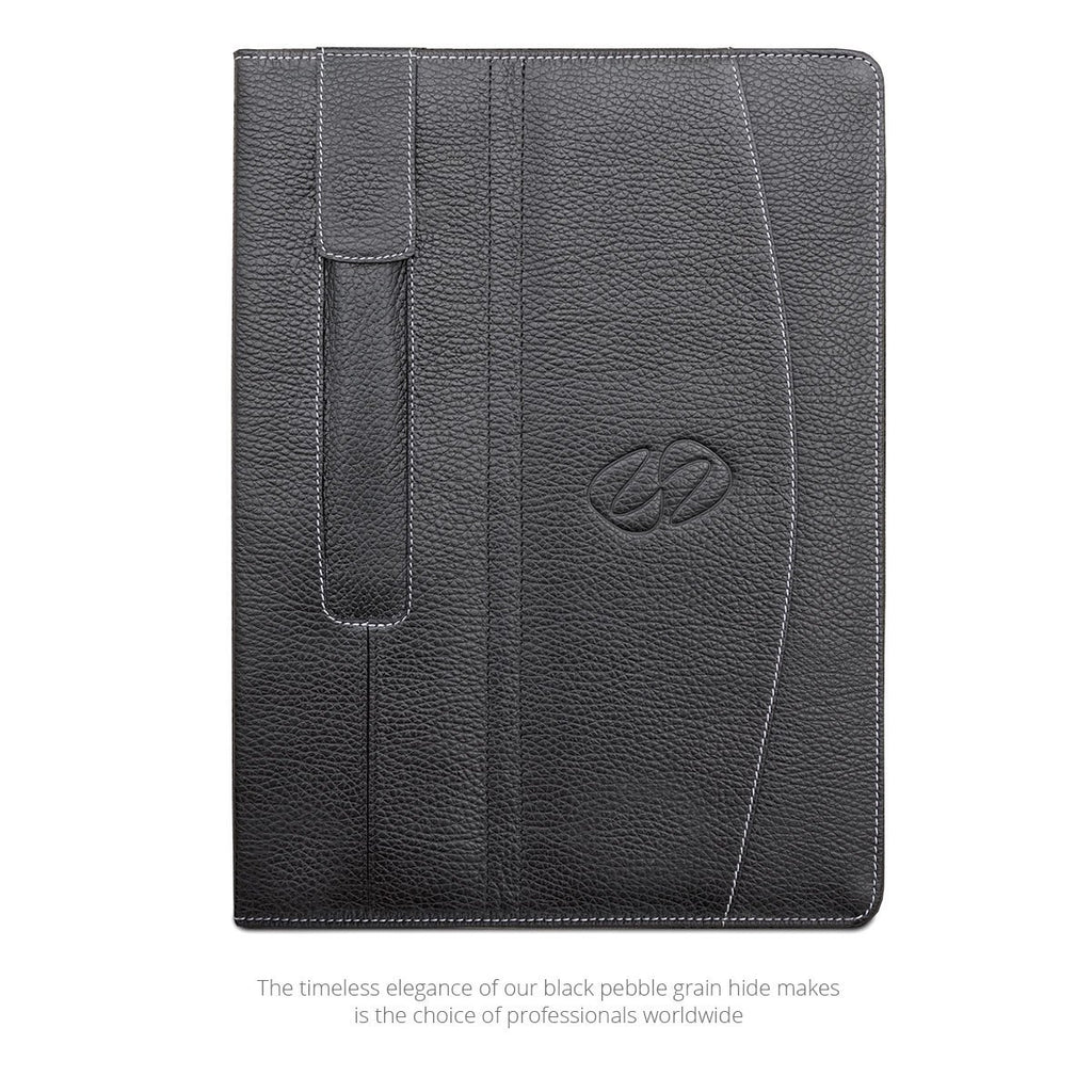 View of MacCase Leather 9.7 iPad Folio shown in black