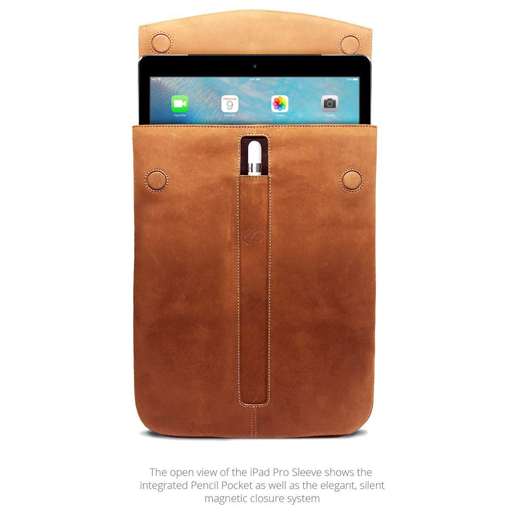 MacCase Premium Leather iPad Pro Sleeve