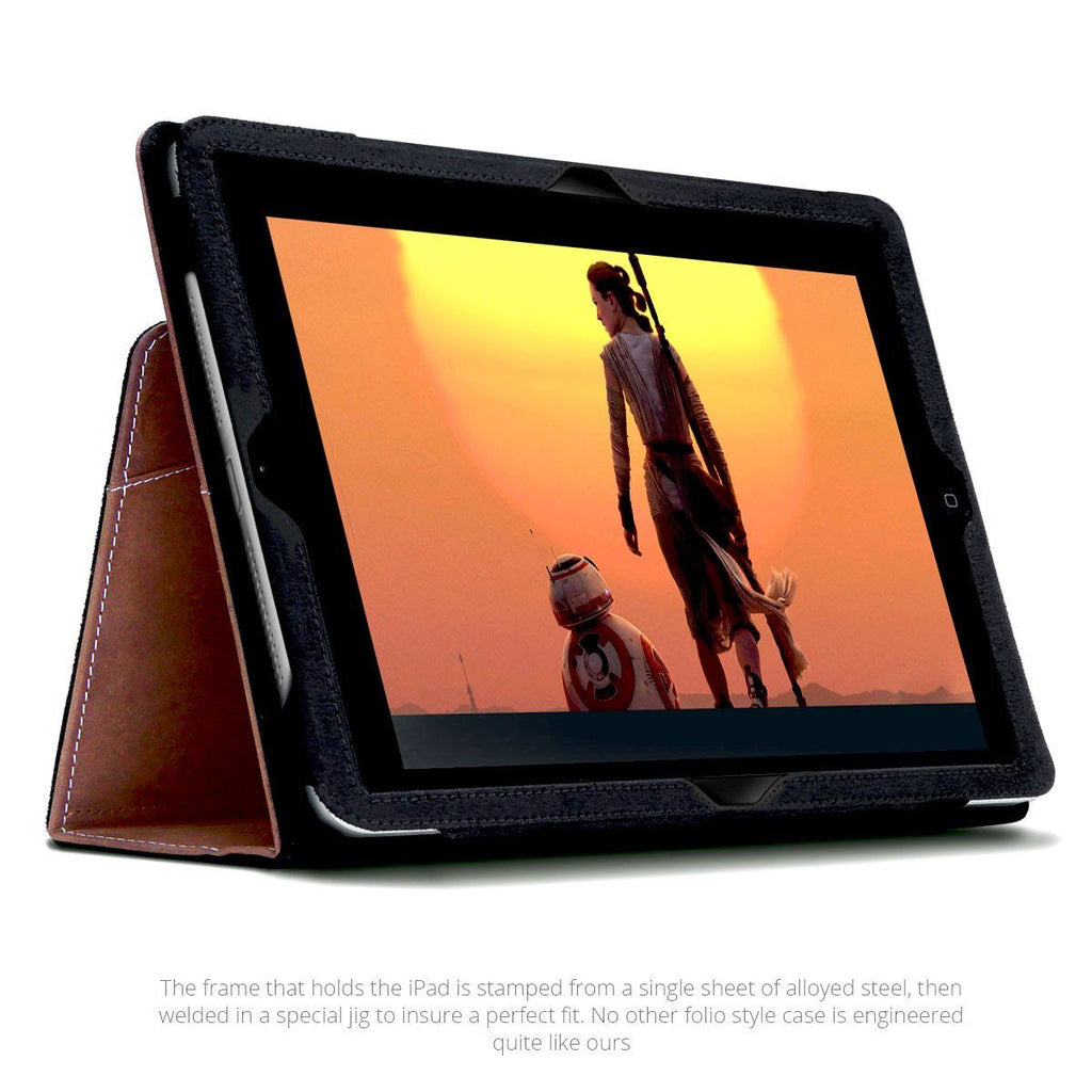 The  best leather iPad 9.7 case shown in movie mode