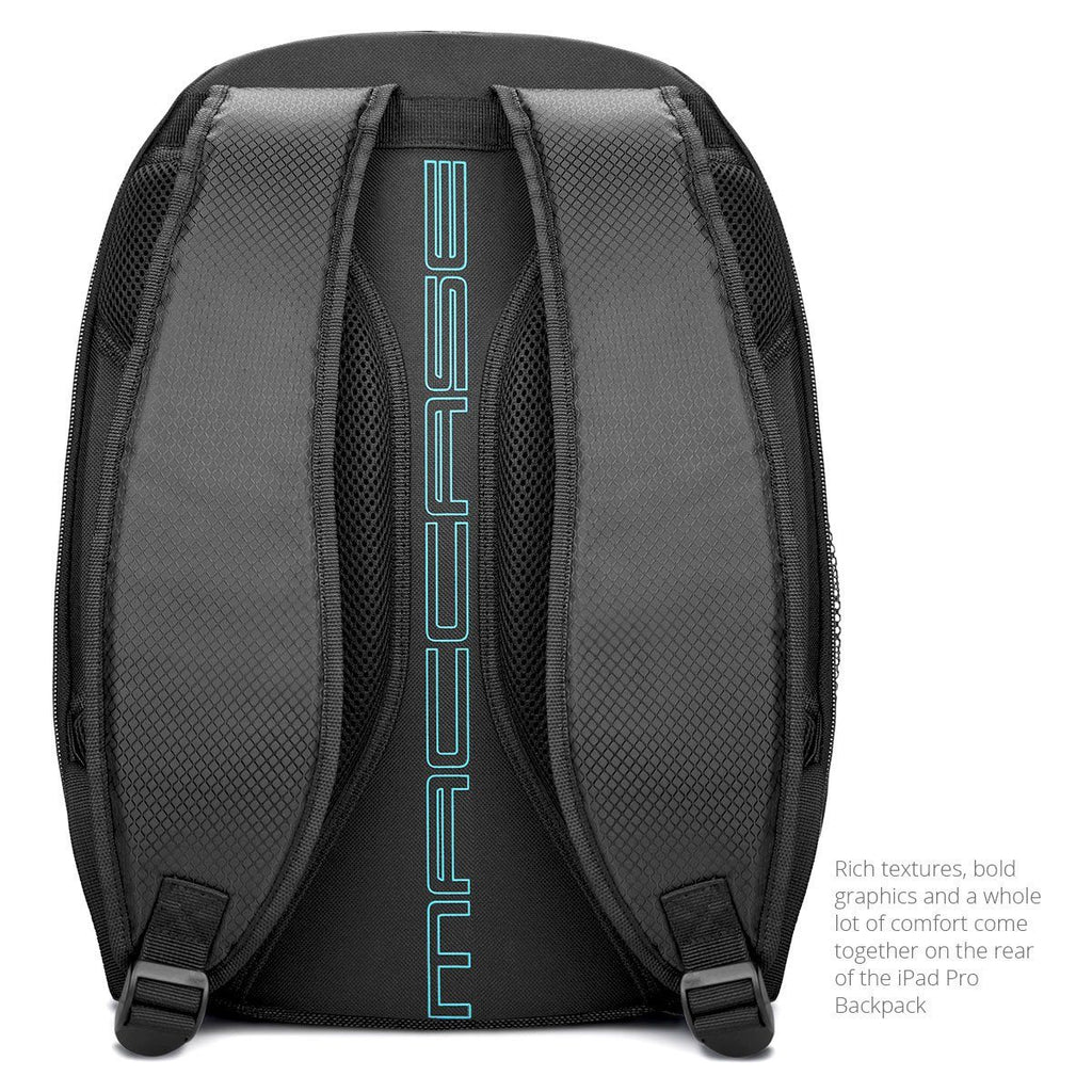 rear view of the world's best iPad Pro Backpack by MacCase