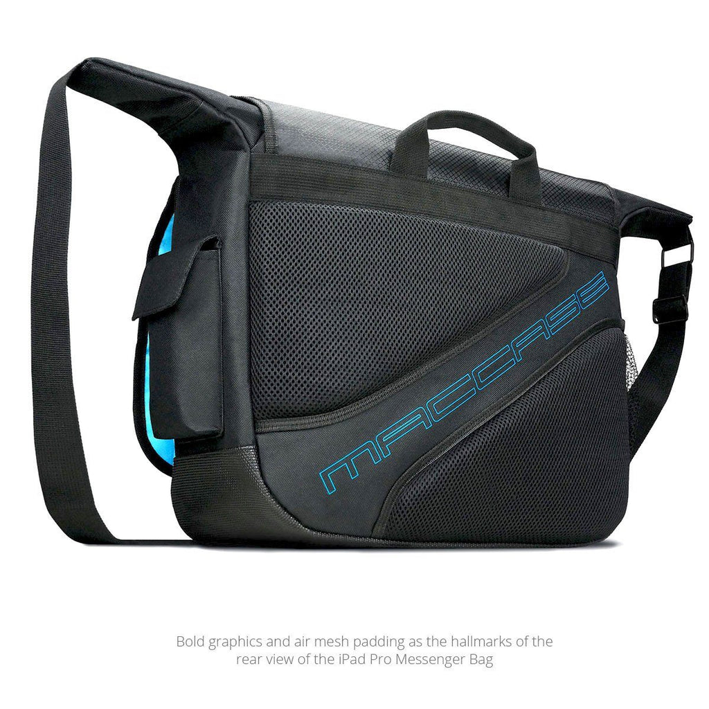 Rear view of the MacCase iPad Pro Messenger Bag