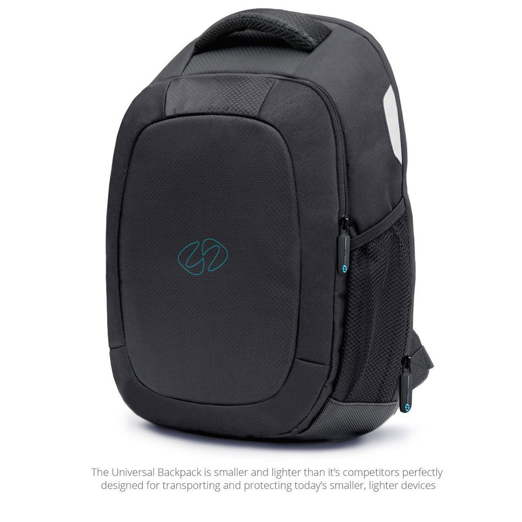 Quarter view of the universal laptop backpack