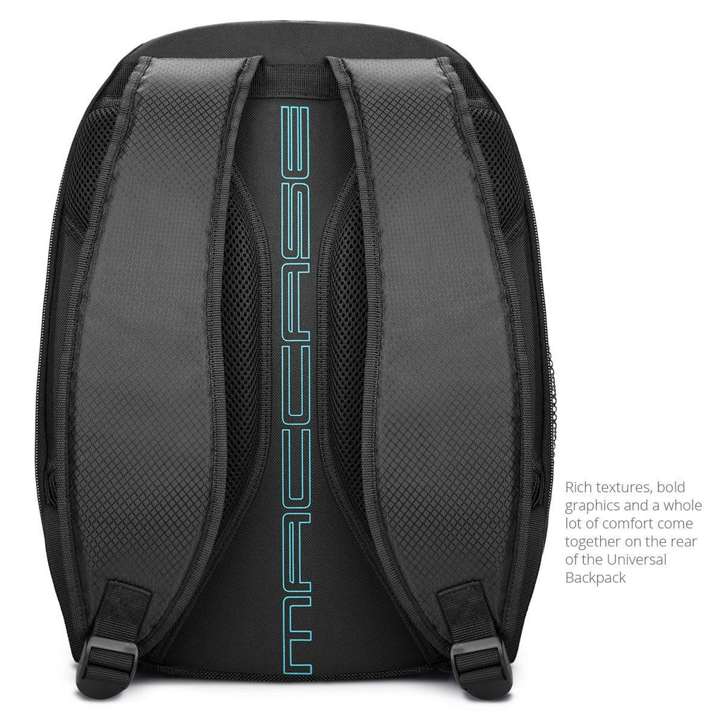 Rear view of the MacCase Universal Laptop Backpack