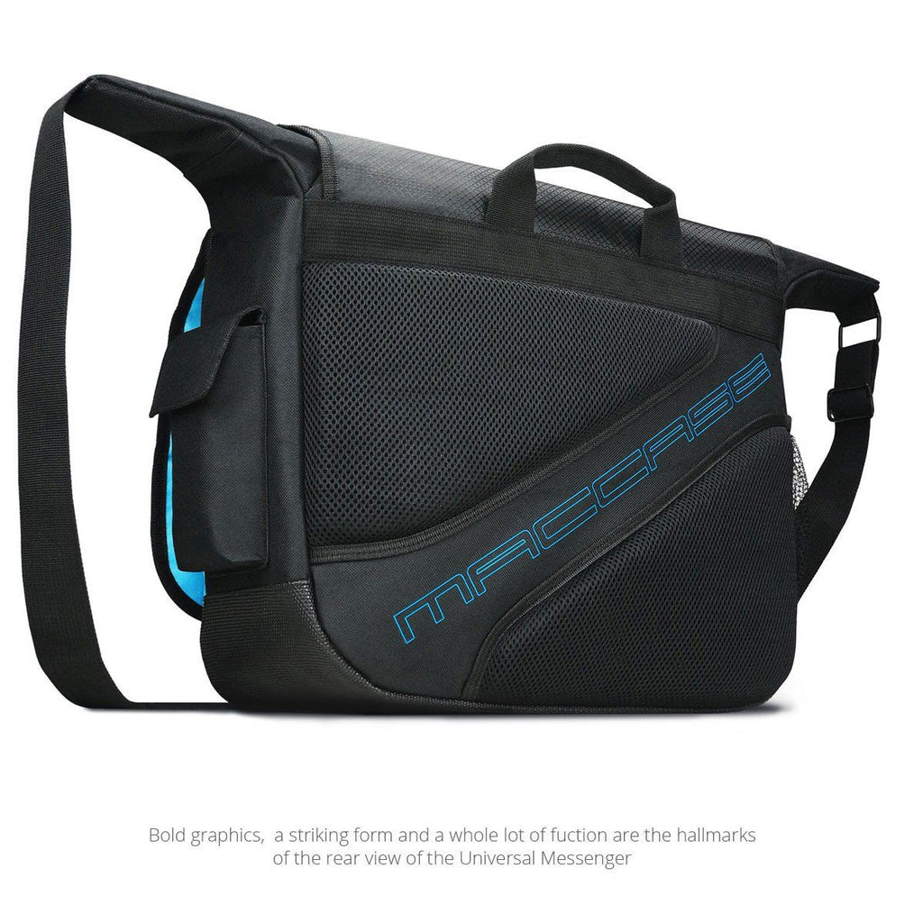 Rear view of the MacCase Universal Messenger Bag