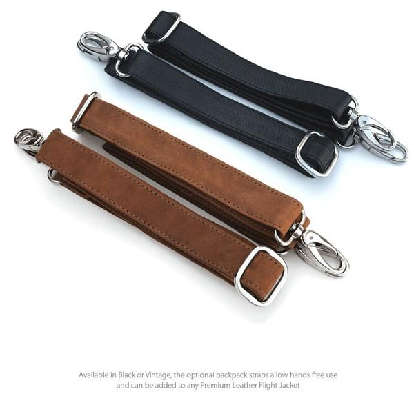 Premium Leather Backpack Strap Set