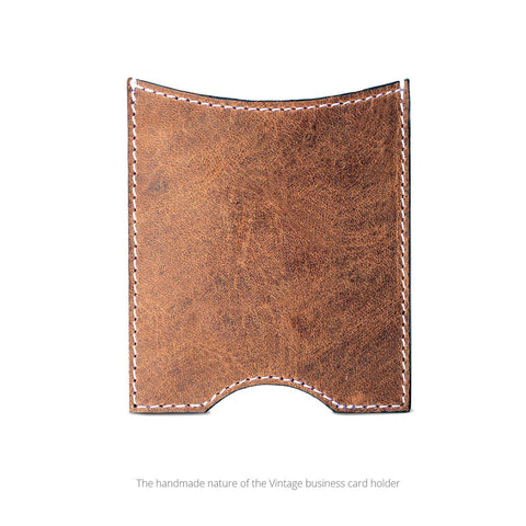Swatch-Vintage Front view of the leather business card holder