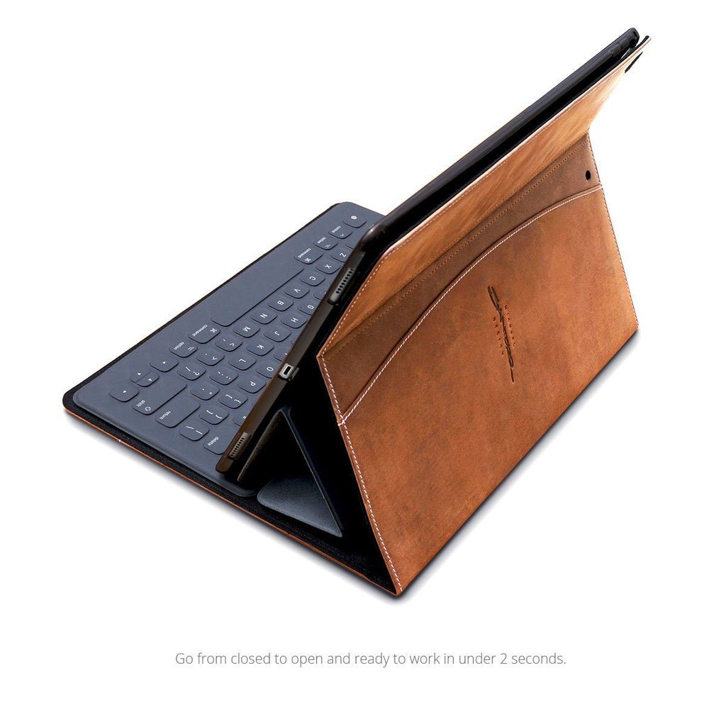 best service 413b1 e6533 Premium Leather iPad Pro Case Compatible with Smart Keyboard