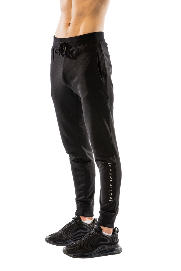 ActiphWear Men's Jogging Bottoms - Black Slim Fit
