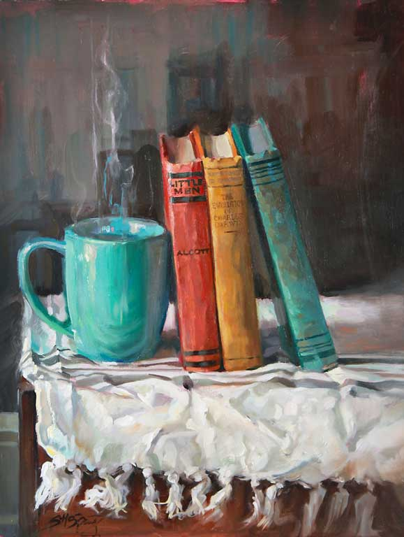 Title: An Invitation Artist: Stephanie Spay Medium: Oil on Panel Size: 16