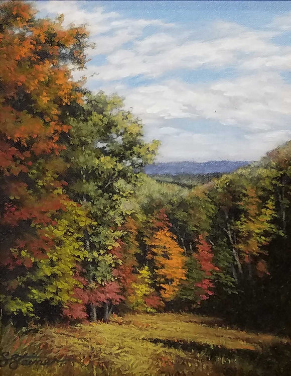 As Brown County Turns Oil Painting by Sharon Steiner