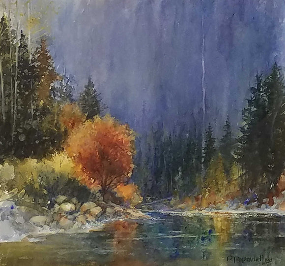 At The River's Bend Watercolor by Dale L. Popvich