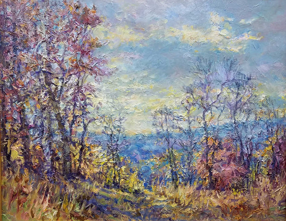 Autumn Vista Oil Painting by Patricia Rhoden Bartels