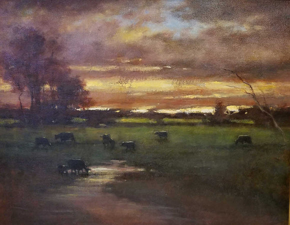 Back Home In Indiana Oil Painting by Karen Graeser