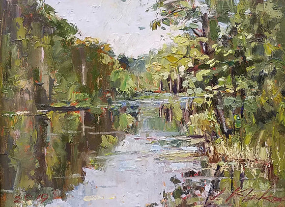 Bear Creek Lake Oil Painting by Jeffrey Klinker
