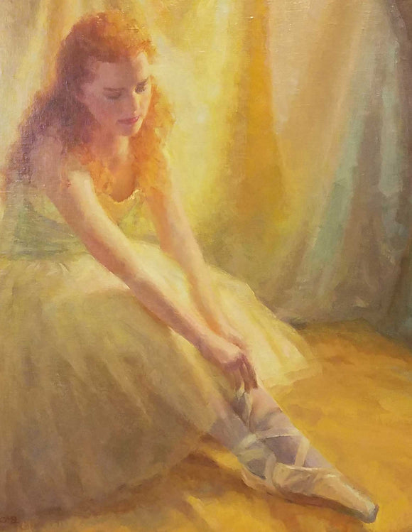 Before the Ballet Oil on Linen Painting by Charlene M. Brown