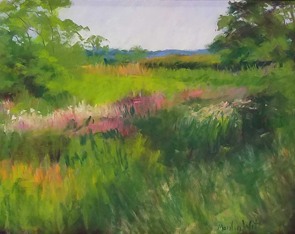 Breeze Across The Prairie Pastel Painting by Marilyn Witt