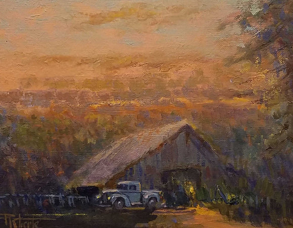 Brown County Memory Oil Painting by Robert Eberle