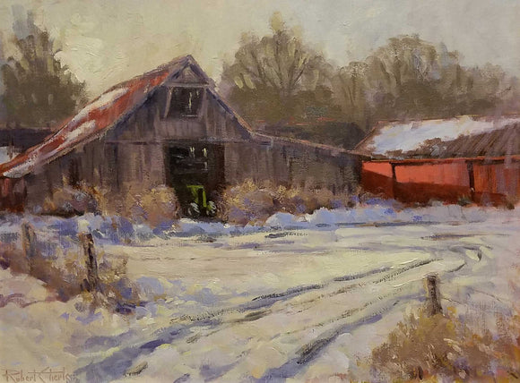 Brown County Winter Oil Painting by Robert Eberle