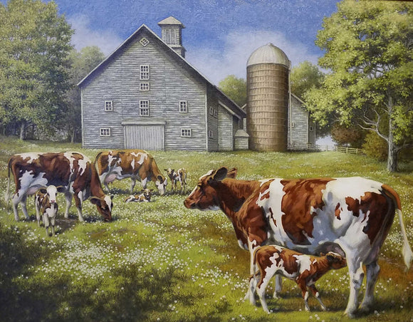 Contented In Clover Oil Painting by Sharon Steiner