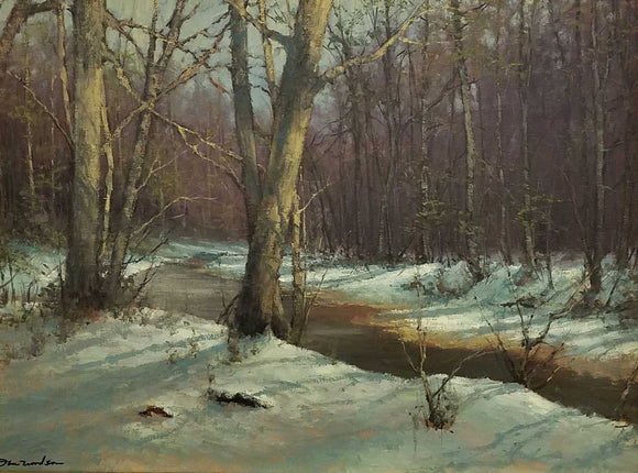 Creek In The Woods Oil Painting by Dan Woodson