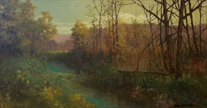 Creek In Brown County Oil Painting by Dan Woodson