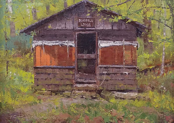 Deadfall Lodge Oil Painting by Thom Robinson