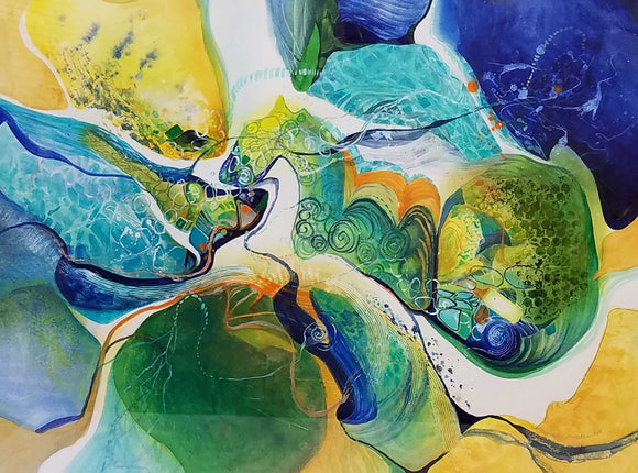 Dinoscape Mixed Water Media by Beverly S. Mathis