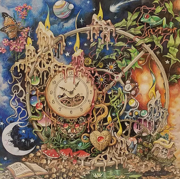 Echoes In Time Colored Pencil Painting by Barry Powell