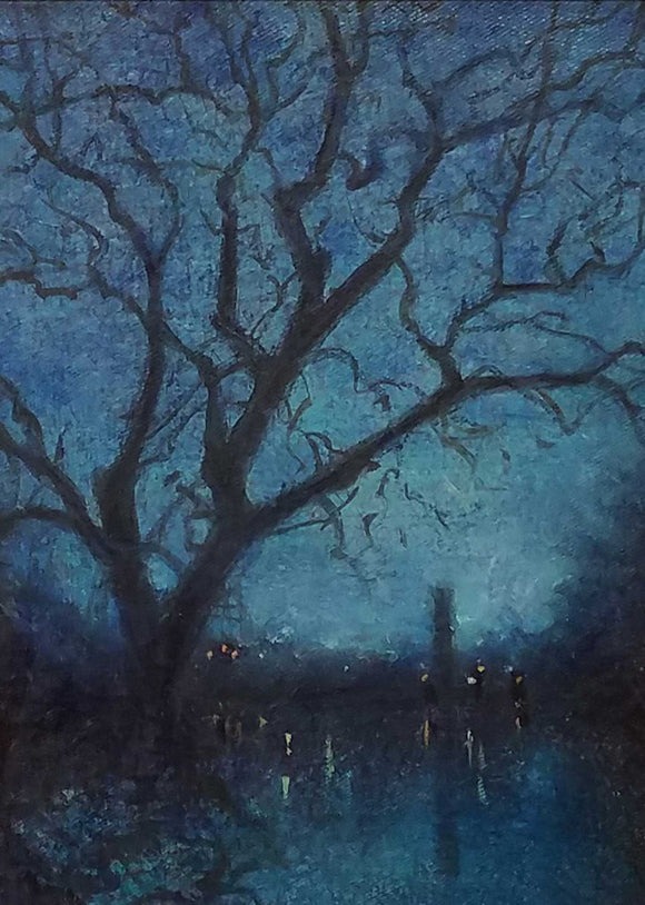 Evening Lights Oil Painting by Karen Graeser