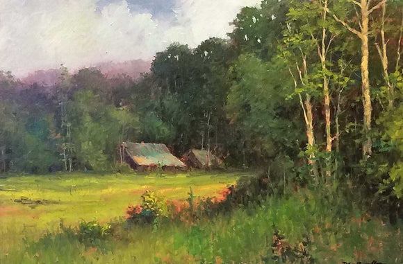 Farm In Fort Wayne Oil Painting by Dan Woodson