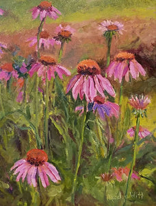 Flowers For The Butterflies Oil Painting by Marilyn Witt