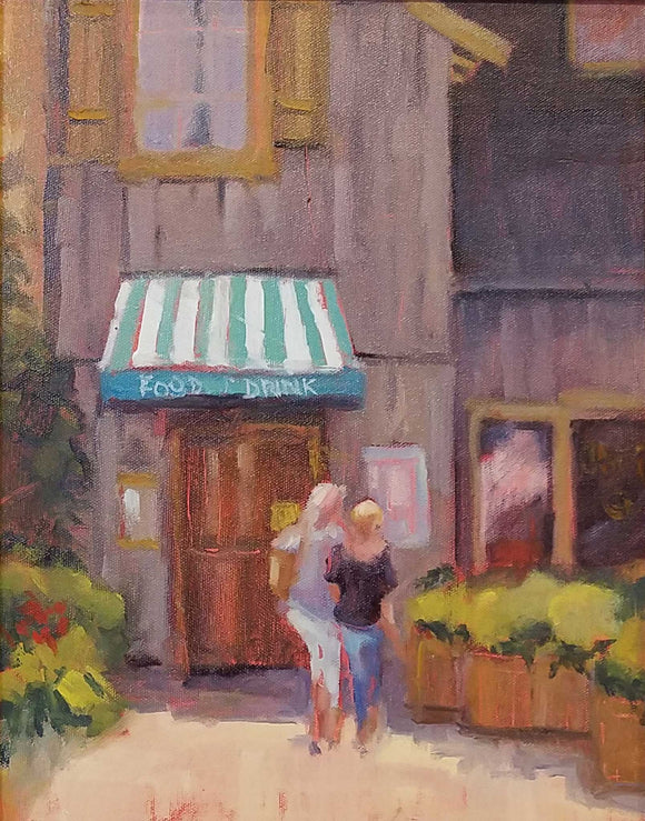 Food, Drink, & Friends Oil Painting by Pat Bardes