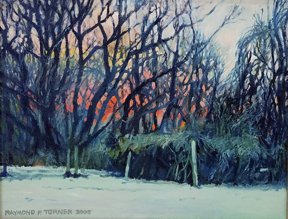 Frost At Sunrise Oil on Canvas Painting by Raymond Turner