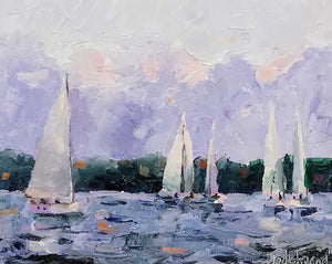 Gathering Sails Oil by Jodie Friend