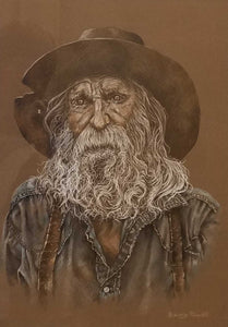 Gold Hunter Colored Pencil Painting by Barry Powell