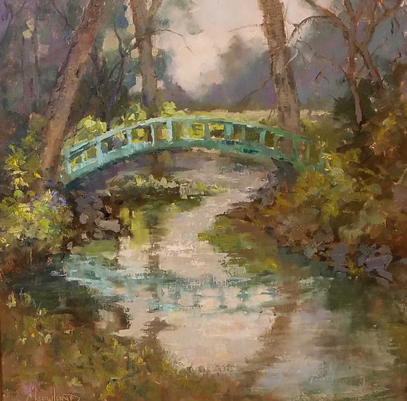 Harmony Bridge Oil on Linen Painting by Chris Newlund