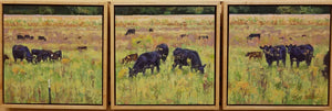 Late Summer Cows & Calves Oil Painting by Eric Brock